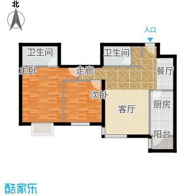 半岛公寓7-3G二居户型
