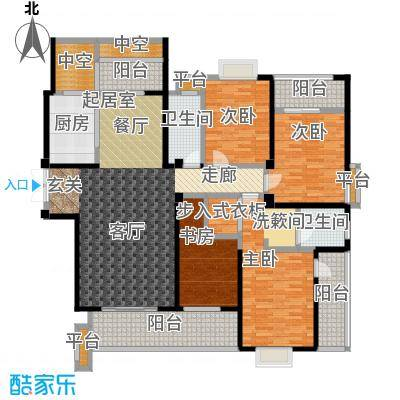 华府豪庭187.76㎡懿湾-C6户型4室2厅2卫