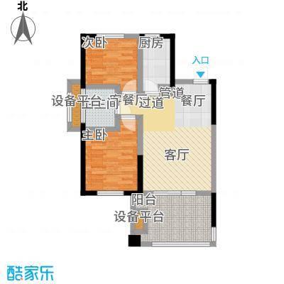 山泉海5#楼B1-A1户型 2室1厅1厨1卫70.94㎡户型2室1厅1卫