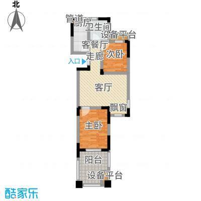山泉海10#楼B1-C1户型 2室1厅1厨1卫68.87㎡户型2室1厅1卫