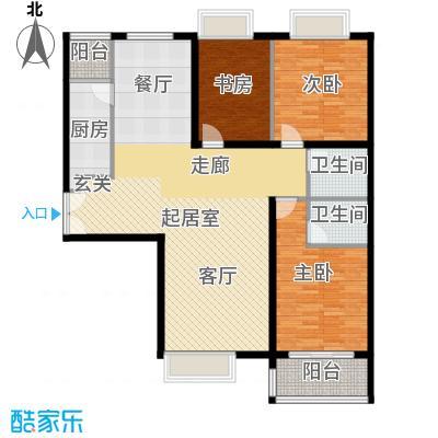 禧福汇国际社区147.00㎡3-4单元01三室户型10室