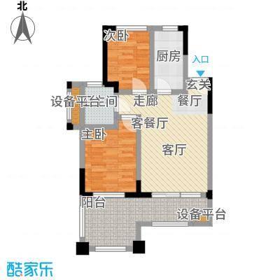 山泉海户型图 2室1厅1厨1卫户型2室1厅1卫