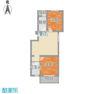 白河涧别墅75.80㎡两室一厅一卫户型