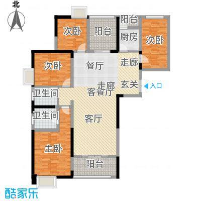 常州红星国际广场B5#楼A1户型4室1厅2卫1厨