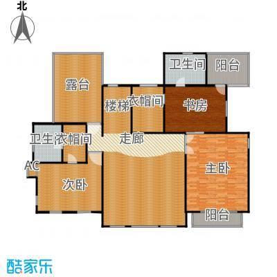 天恒・半山世家162.22㎡B户型 二层平面图户型7室3厅4卫