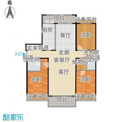 博雅世家183.65㎡三室两厅两卫户型