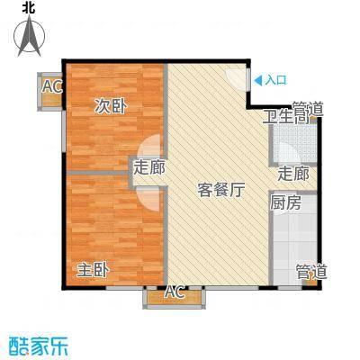 东亚上北中心7号楼C7反户型二居户型