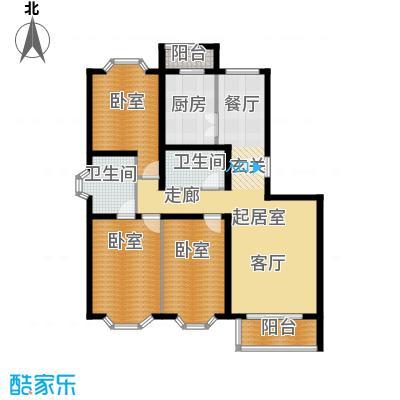 顺鑫澜庭119.86㎡J户型10室