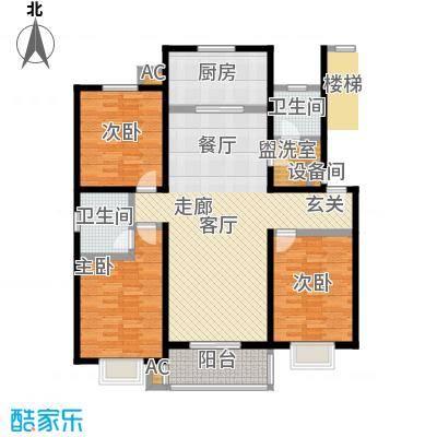 燕语华庭129.00㎡D户型三室两厅两卫户型S