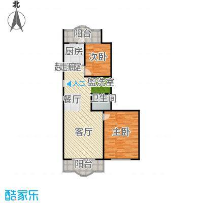 康馨雅苑89.29㎡二室一厅户型