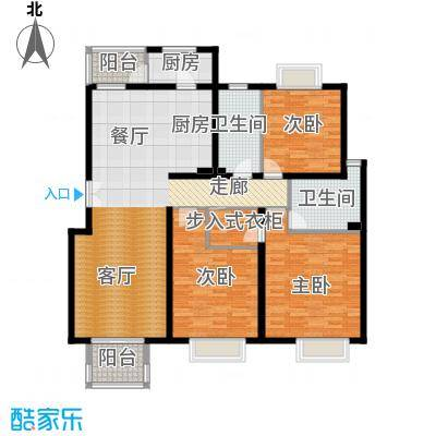 2U・香花畦147.93㎡D户型三室两厅两卫户型