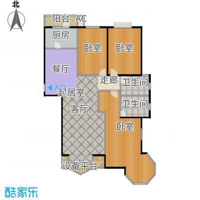 瑞海姆公寓153.00㎡C户型三居户型