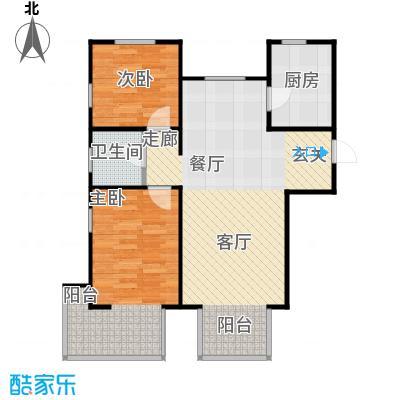 金海城99.42㎡A\'户型 二室二厅一卫户型2室2厅1卫