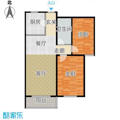 金海城90.39㎡C户型 二室二厅一卫户型2室2厅1卫