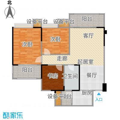 城南壹�户型3室1卫1厨