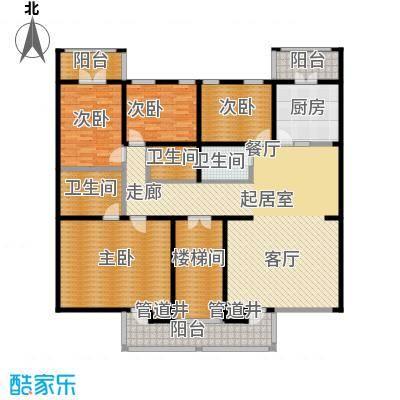 中房水木兰亭197.30㎡4室-2厅-3卫-1厨户型