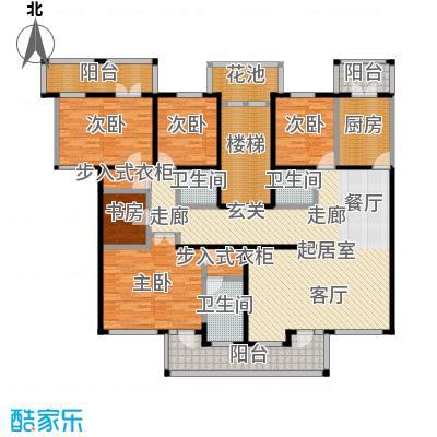 中房水木兰亭208.63㎡4室-2厅-3卫-1厨户型