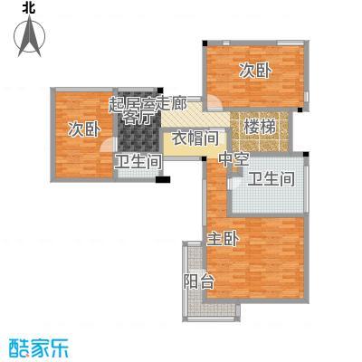 北京御墅147.84㎡Aa二层户型3室2卫