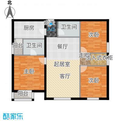 首开智慧社135.00㎡1号楼B1户型3室2厅2卫