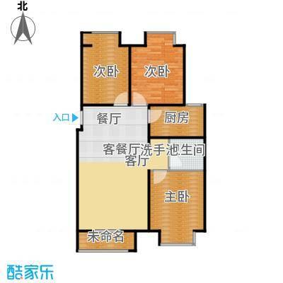 香城丽景・悦动社区C户型3室1厅1卫1厨