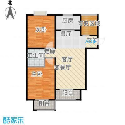 香城丽景・悦动社区D户型2室1厅1卫1厨