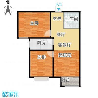 香城丽景・悦动社区B1户型2室1厅1卫1厨