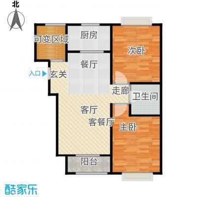 香城丽景・悦动社区F户型2室1厅1卫1厨