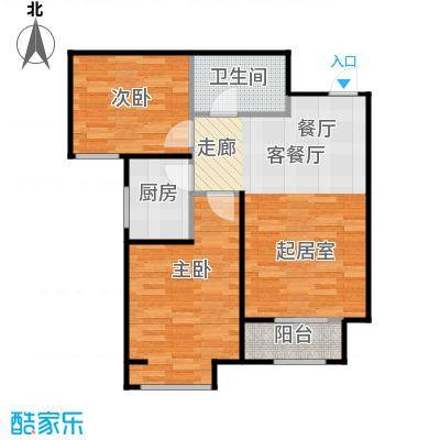 香城丽景・悦动社区B户型2室1厅1卫1厨