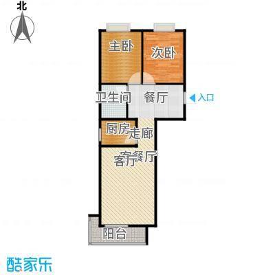 香城丽景・悦动社区A户型2室1厅1卫1厨