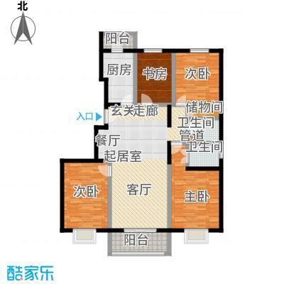 紫金新干线150.76㎡D1四室两厅两卫户型
