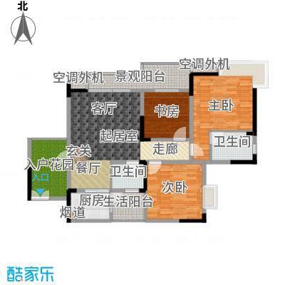 上河鹂岛111.02㎡上河鹂岛111.02㎡3室2厅2卫户型3室2厅2卫