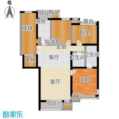 北京人家135.15㎡F2户型3室2厅2卫户型