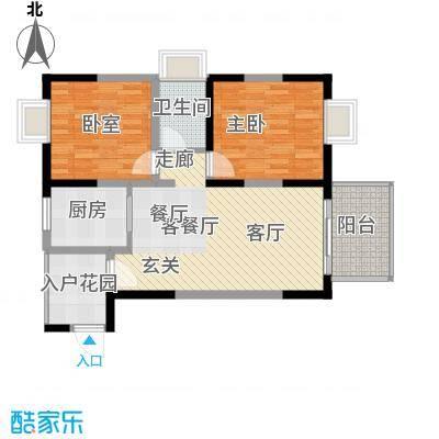 布鲁斯国际新城户型1室1厅1卫1厨