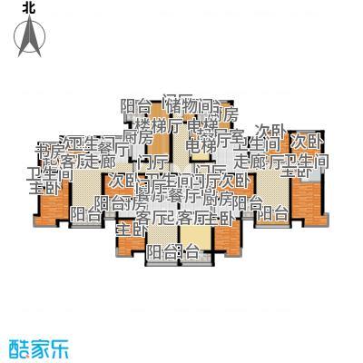 恒大山水城31号楼标准层平面图户型