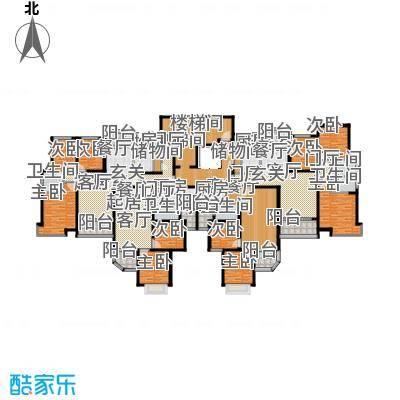 恒大山水城29号楼标准层平面图户型
