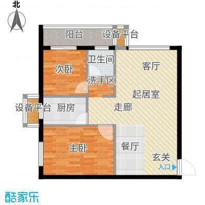 天翔・新新家园(二期)85.39㎡二房一厅一卫-85.39平方米-12套户型