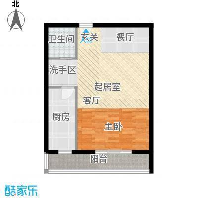 天翔・新新家园(二期)67.36㎡一房一厅一卫-67.36平方米-5套户型