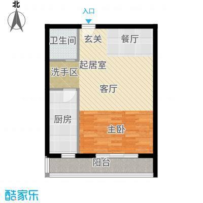 天翔・新新家园(二期)66.17㎡一房一厅一卫-66.17平方米-6套户型