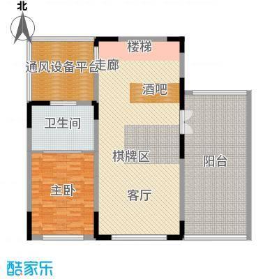 阿那亚151.16㎡联排B1户型二层 三室三厅两卫户型3室3厅2卫