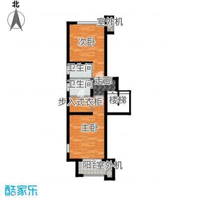 永定河孔雀城铂宫大公馆D户型上层 三室两厅三卫户型3室2厅3卫