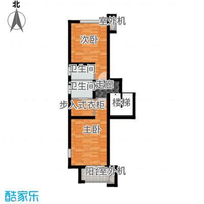 永定河孔雀城铂宫大公馆C户型上层 三室两厅三卫户型3室2厅3卫