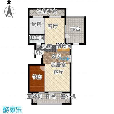 永定河孔雀城铂宫大公馆C户型下层 三室两厅三卫户型3室2厅3卫