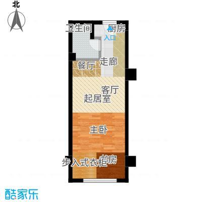 半岛四季b1户型一室一厅一卫户型