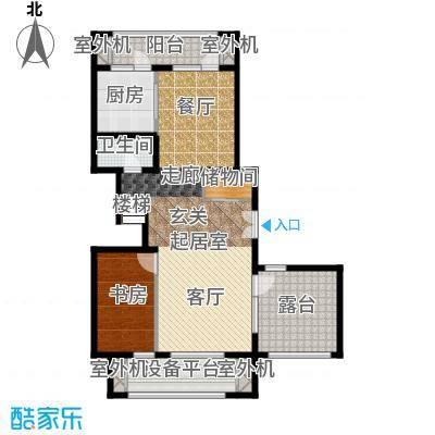 永定河孔雀城铂宫大公馆D户型下层 三室两厅三卫户型3室2厅3卫
