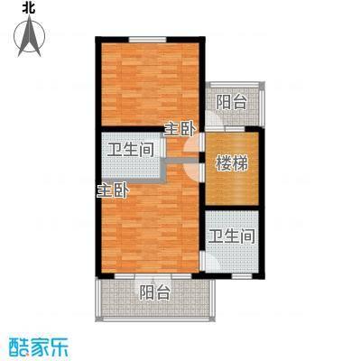 望京西府I二层户型2室2卫