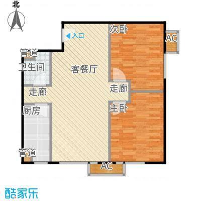 东亚上北中心7号楼C7户型二居户型