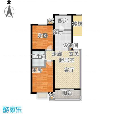 燕语华庭88.84㎡B户型两室两厅一卫户型S