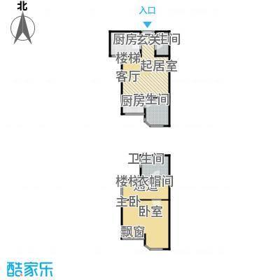 鸿坤・原乡小镇86.90㎡A\\\'童话泉户型 一室一厅二卫户型1室1厅2卫