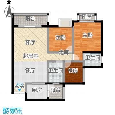 木鱼石水木年华--23套户型3室2卫1厨