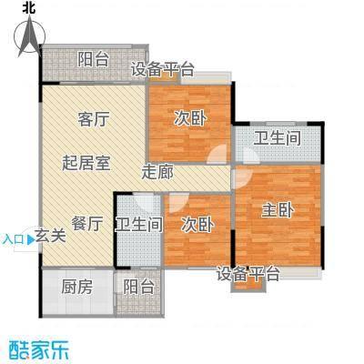 城南壹�户型3室2卫1厨